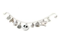american nightmare - 12pcs Nightmare Before Christmas Charm Bracelet Jack Skellington Jack O Lantern charm adjustable silver tone