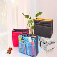 Wholesale Women Travel Insert Handbag Purse Dual Insert Multi function Handbag Makeup Bag Pocket Bag Organizer Washing Bag Sundry Zipper Bag