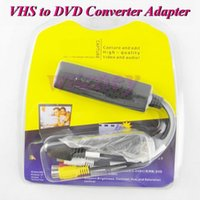 Wholesale 250set VHS to DVD Converter VIDEO CAPTURE CARD USB Video TV DVD VHS Capture Adapter Win XP Retail package