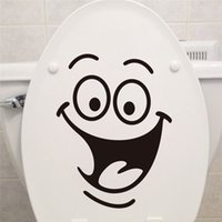 bathroom wall furniture - Smile face Toilet stickers diy personalized furniture decoration wall decals Decal fridge washing machine sticker Bathroom Car Gift