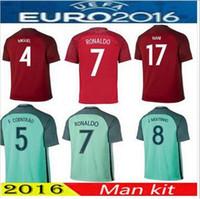 Wholesale Portugal2017 maillot de Foot IGUEL portugaleds F COENTRAO portugaleds eder CAMISA J MOUTINHO Afastado Vermelho Verde
