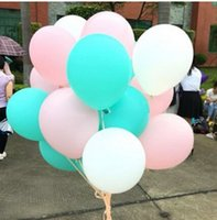 Wholesale 60pcs inch Mixed Mint Green Pink White Latex Balloons Wedding Baby Girl Shower Birthday Party Decoration