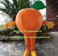 fresh orange mandarin - Fresh Orange Arancia Mandarin Tangerine Mandarino Mascot Costume Cartoon Character Mascotte Yellow Gloves Shoes NO Free SH