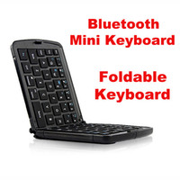 android tablet keypad - Bluetooth Foldable Mini Keyboard for Mobile Phone Tablet Pad Laptop Smart TV White Black Portable Keypad Windows Android IOS