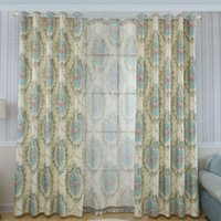 Wholesale FEDEX OR UPS Floral Printed Sheer Curtain European Style Luxury Modern Bedroom LIVING rOOM dECOR draperies