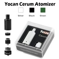 Wholesale 100 Original Yocan Cerum Atomizer Full Ceramic Wax Vaporizer Spare Quartz Dual QDC Coil Fit mAh Yocan Evolve Plus Battery Fast Shipping
