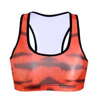 Spandex aerobics workout - Women Yoga Bras Workout Push Up Vest Sweat Aerobics D Print Sport Tank Tops Quakeproof Cup Professional Sleeveless Garment Fashion LNSsb