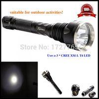 aluminium finish - 5 mode lm CREE XM L T6 LED flashlight Aluminium alloy Hard Anodized finish Strong Lumens Torch light
