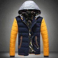Wholesale Grandwish Warm Padded Men s Jackets Winter Stand Collar Hat Mens Down Coats amp Outwear Thicken Winter Parkas Male XL PA461