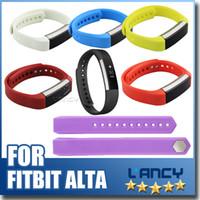 Wholesale 2016 Fitbit Alta Newest Silicone Watch band Bracelet Wrist Strap For Fitbit Alta Smart Watch No Tracker L S size Pk DZ09 U8