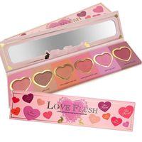 Wholesale New Love Flush Blush HOT MAKEUP Love Flush Blush Wardrobe Palette SIX Shades DHL Free MR089