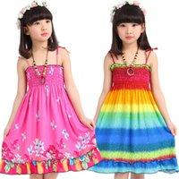 baby swing natural - Summer dress bohemian beach dresses Big Swing floral Pinup baby girls long dresses DHL