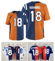 authentic colts jersey - 2016 New Men s Broncos Colts MANNING Brothers Two Tone Split Elite Football Authentic Jerseys Professional High Quality Stitched Low Price