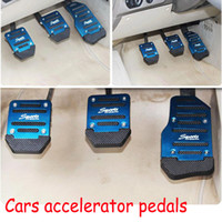 Wholesale New Set Vehicle Car Non Slip Anti Slip Pedal Cover Set For Brake Accelerator Blue Red Silver Color