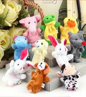 Wholesale 2016 new Retail Baby Plush Toy Finger Puppets Talking Props animal group set