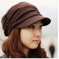 Wholesale Women Vintage Cotton Blended Cargo Hat Cadet Military Wrinkle Baseball Peak Cap
