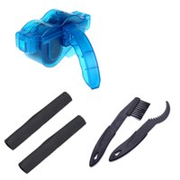 bicycle chain protector - 2Pcs Bicycle Frame Chain Protector Cover BikeChain Wheel Clean Brush Crankset Cleaning Kit Bicycle Chain Cleaner Cycling Kit Set