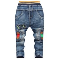 Wholesale In the autumn of new kids trousers manufacturers jeans trousers boys small Korean alphabet