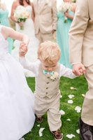 baby boy linen suit - New Arrival Fall Baby Boy Wedding With Clothes Delicate Kids Tuxedo Suits Cheap Formal Clothing Vest Pants