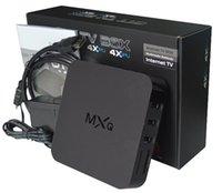 Wholesale 10pcs BOX MXQ Android TV Box Quad Core Bit Amlogic S805 MXQ Media Player With XBMC KODI15 skylive Fully Load Update Smart TV Box