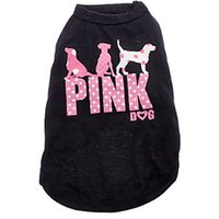 achat en gros de shirt animal de halloween-Nouveau chien rose Dog Apparel Mode Cute Dog Vest Pet chandail Puppy chemise Soft Coat veste Summer Dog Cat Vêtements