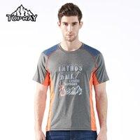 Wholesale Hot Sale Summer Hiking Running Man T shirt Causal Tshirt Homme Outdoor Sport Short Sleeve T Shirt Men O neck Trekking Camisetas