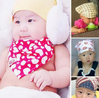 Wholesale Super deal Organic cotton baby boys and girls bibs towel triangle bandanas scarf children cravat infant pinafore headband