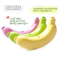 banana market - SMILE MARKET New Arrival Items Fruits Storage for Freshness Preservation Banana Box Color Pink Green Yellow
