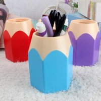 Wholesale Popular Creative Pen Vase Pencil Pot Makeup Brush Holder Stationery Desk Tidy New Design Container Gift