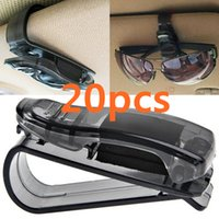 Wholesale 20pcs set Portable ABS Clips Car Vehicle Sun Visor Sunglasses Eyeglasses Glasses Ticket Holder Clip Auto Fastener Clip CIA_501