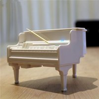 Wholesale Piano Toothpick Box Automatic UV Germicidal Power Off Protection Intrusive Clip Design Food Grade Material Creative Kitchen Dining Tools