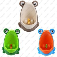 Wholesale Stylish PP Frog Children Stand Vertical Urinal Wall Mounted Urine Groove Baby Boy Potty Toilet Trainers Urinals