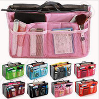 Wholesale 13 Colors Bag In Bag Women Insert Handbag Organizer Purse Makeup Case Storage Liner Bag Tidy Travel Insert Storage Bag CCA4900