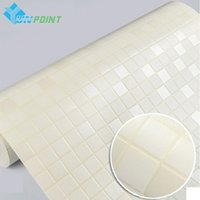 bathroom mosaic tile designs - Korea Imported PVC Wallpaper White Mosaic Tile Wall Sticker Wallpapers DIY Papier Peint For Bathroom Kitchen Walls Home Decor