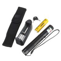 Wholesale car Hot Sale nm mw Green Laser Pointer Laser Pen Burning Match Safe Key Battery Charger Holster