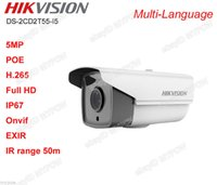 Wholesale HIKVISION DS CD2T55 I5 H POE EXIR outdoor IP67 IR m Bullet IP Camera MP