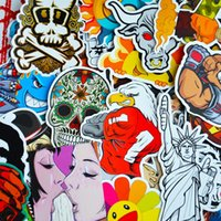 animals pack - 100 Pack Random Music Film Vinyl Skateboard Guitar Travel Doodle Graffiti Decal Cute Fashion Car Funny Stickers CDE_00G