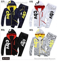 Wholesale Men s fashion leisure sport letter hoodies sweatshirts with pants together