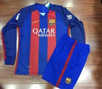 barcelona long sleeve shirt - 2016 camiseta messi neymar jr Reals top thai soccer jersey survetement maillot de men t shirt barcelona
