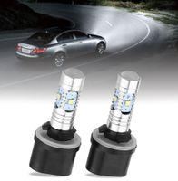 Wholesale Clear Stock Pair W High Power Car LED Fog Light Driving DRL Light V V degree Beam Angle Design Signal light
