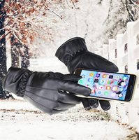 Wholesale New leather gloves Women outdoor winter Gloves driving PU leather gloves touch screen Gloves fashion Keep warm gloves