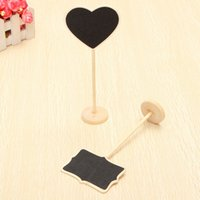Wholesale cm Wooden Blackboard on Place Holder For Wedding Party Decorations Heart Shape Rectangle Chalkboards Message Board