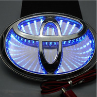 abs automobile - Toyota D LED Light Car Logos For Rear Engine Cover Auto Car Badges Blue Red White Automobile Emble badge