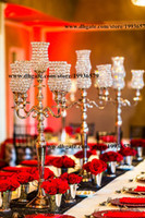 arms decor - 3ft tall Crystal Tulip Silver Flower Blossom Home decor arm Candelabras Tea Light Votive Candle Holder