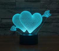 arrow table - Free Ship Color Changing The Arrow of Love D LED Night Light USB LED Decorative Cupid s Arrow Table Lamp Desk Lighting