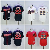Wholesale Minnesota Twins Miguel Sano Jersey Cool Base Flexbase Miguel Sano Baseball Jerseys Throwback Uniforms Red Blue Pullover White Grey