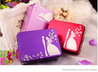 Wholesale candy boxes candy packaging boxes tinplate material box gift boxes flowers boxes rectangle gift wedding box