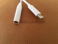 apple aux cord - For iPhone7 iPhone plus earphone converter cable mm aux audio female adapter to lighting male connector headphone headset charge cord