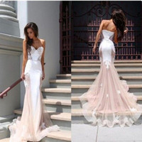 b pictures - 2016 Europe The New Fashion Lace Mermaid Trumpet High Grade Strapless Slim Backless Package Hip Sexy Ruffles Train Evening Dress B