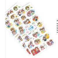 Wholesale Love series paper sticker Decoration label Cartoon scrapbooking stickers for office Zakka school supplies tt